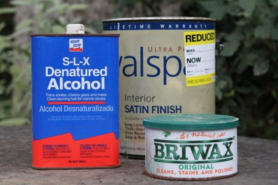 """FURNITURE PREP BEFORE PAINTING   Wipe down all surfaces that will be painted with the denatured alcohol.  This will dull the surface a bit, and give the surface a little """"tooth"""" for the paint to adhere."""