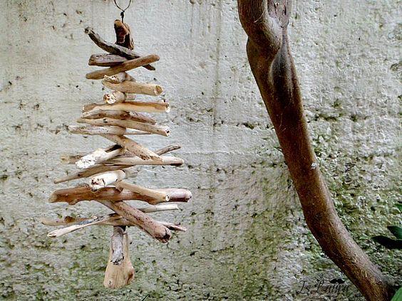 albero di Natale con i legni del mare  fai da te  Pinterest  Dremel, Natal...