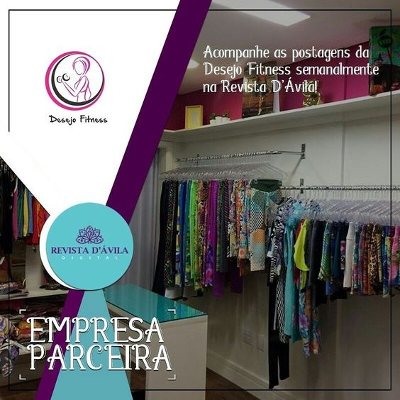 Acompanhe semanalmente as novidades da Desejo Fitness na Revista D'Ávila http://ift.tt/1UOAUiP