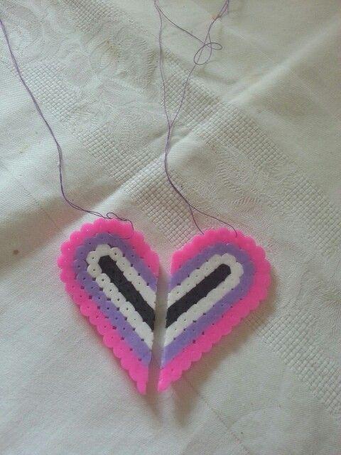 2 bellissime collane che assieme formano un cuore
