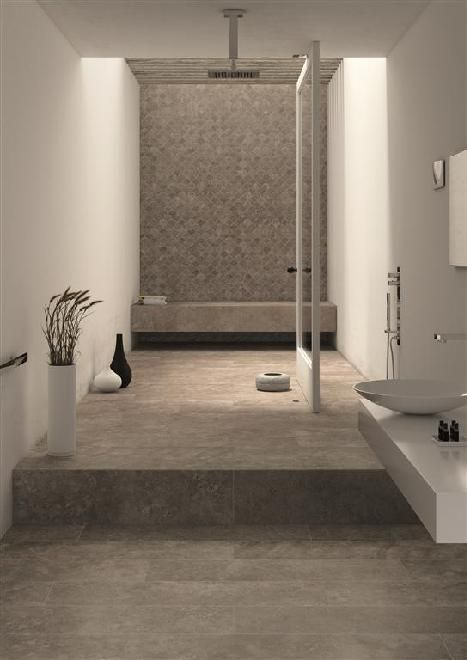 Bathroom modern. Mirage  TriBeCa Hudson  Tile   Classic Natural Grey Tones   Ceramo