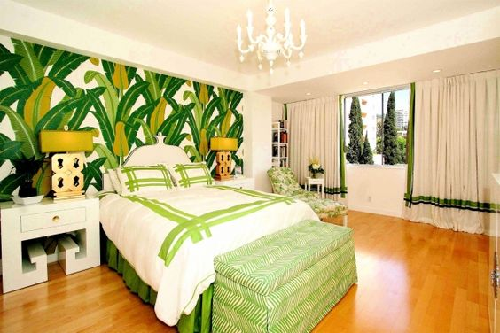 tropical bedroom ideas fascinating green tropical palm beach