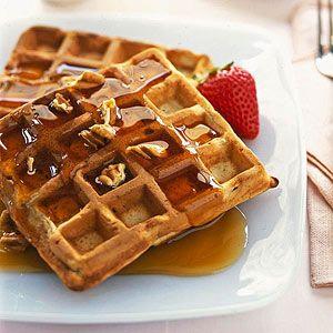 ... of cinnamon and pecans, the baked waffles taste like banana-nut bread