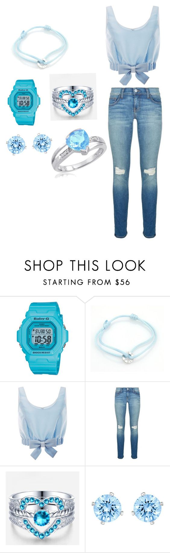 """Baby blue"" by steverusk ❤ liked on Polyvore featuring Casio, Cartier, Honor, Rebecca Minkoff and Swarovski"