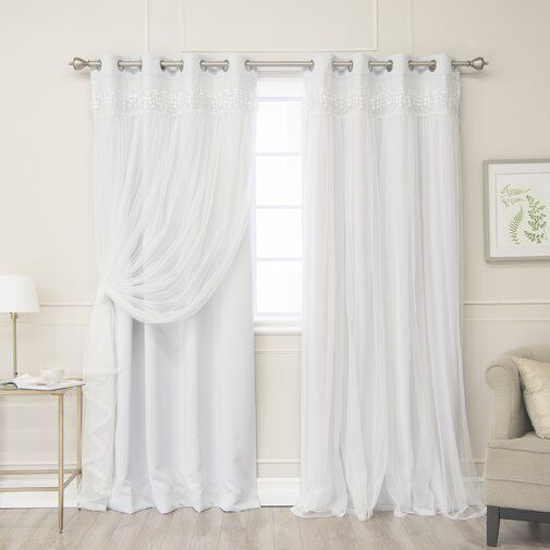 Muier Solid Blackout Thermal Grommet Curtain Panels With Images