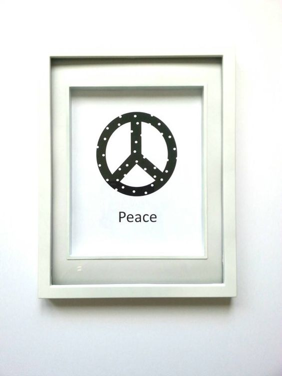 Check out this item in my Etsy shop https://www.etsy.com/ca/listing/264925715/peace-sign-print-polka-dots-black-and