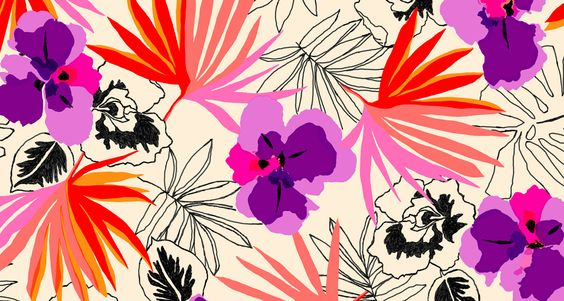 kate spade's May pattern for your Facebook Timeline. #yearofpattern may's tiki print