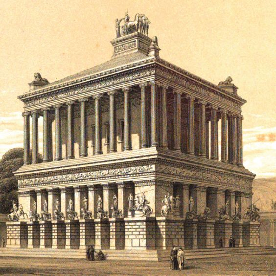The Mausoleum at Halicarnassus or Tomb of Mausolus was ...