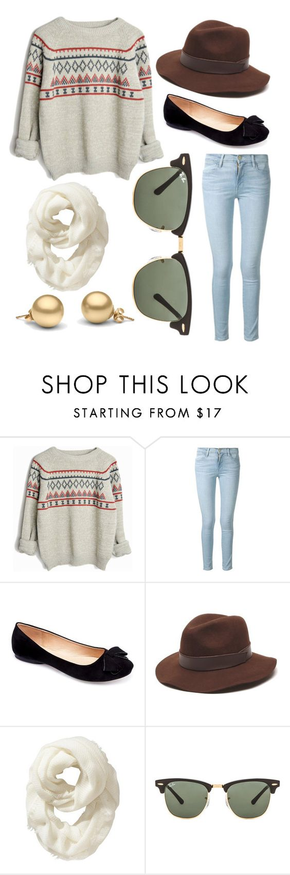 """Thanksgiving"" by pmolly on Polyvore featuring Frame Denim, Machi, Gottex, Old Navy and Ray-Ban"