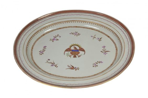 Platter, Samson, American Eagle, 19th Century : Lot 482