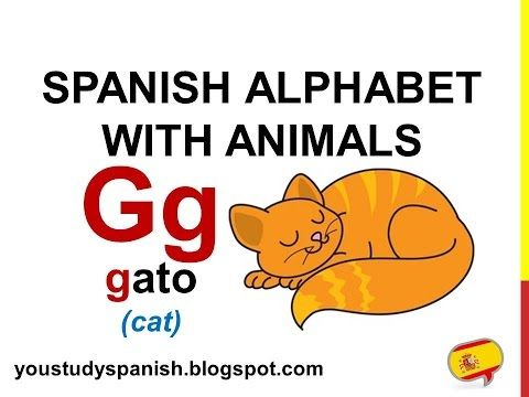 Spanish Lesson 2 Spanish Alphabet With Animals Alfabeto Espanol Con Animales Abecedario Complet Spanish Alphabet Spanish Language Learning Learning Spanish