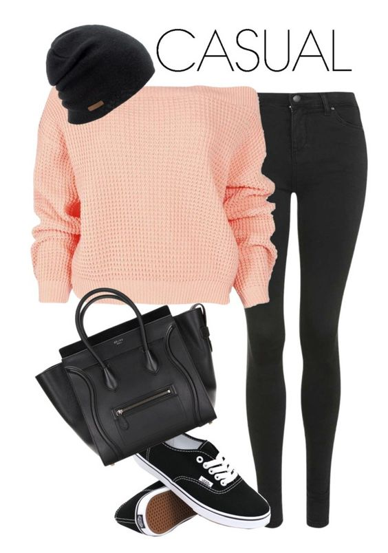 """Casual"" by anjali264 ❤ liked on Polyvore featuring Topshop, Boohoo, Vans and Coal"