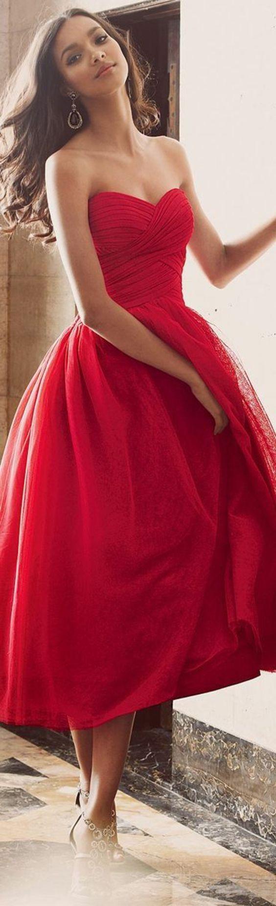 Robe rouge pour une soirée spéciale