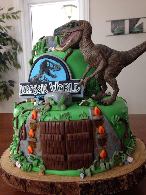 Dinosaur Birthday Cake Decorating Ideas : Jurassic world cake. Dinosaur cake Mundy Mundy Cakes ...