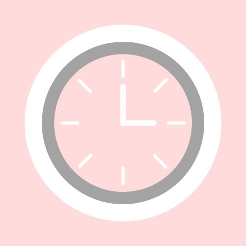 Pink Clock Icon In 2020 Iphone App Layout App Icon Pink Clocks