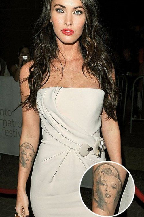 Megan Fox All Tattoos In 2020 Megan Fox Tattoo Marilyn Tattoo Megan Fox