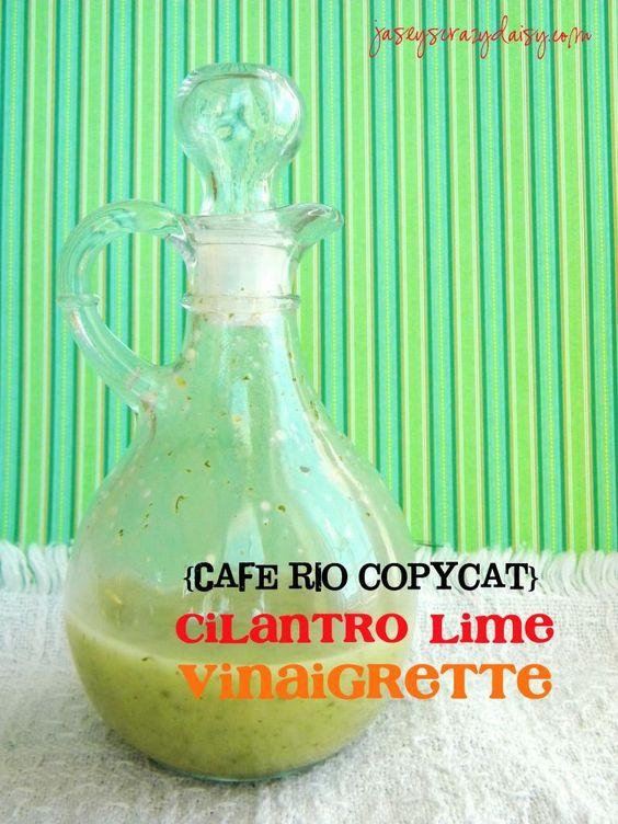 Cilantro Lime Vinaigrette {Cafe Rio Copycat} - Jasey's Crazy Daisy