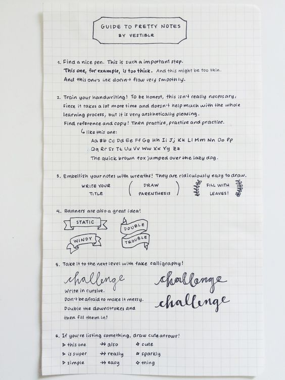 """vestiblr: """" I always get messages of people asking for handwriting reference and advice for cute notes, so I decided to make a nice post with some tips! •  a post of the pens i use (here i was using..."""