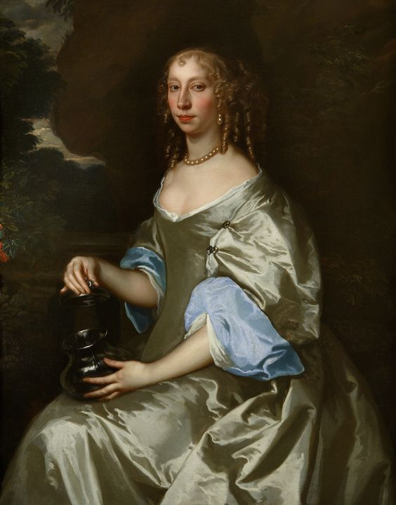 c. 1663 PORTRAIT OF A LADY, BELIEVED TO BE FRANCES VERNEY by Peter Lely: