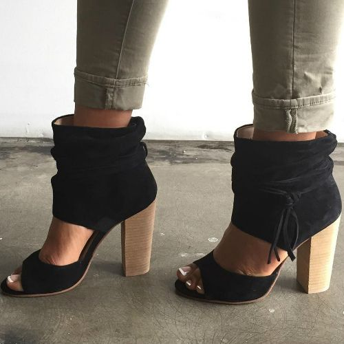 Chinese Laundry Black Suede Booties