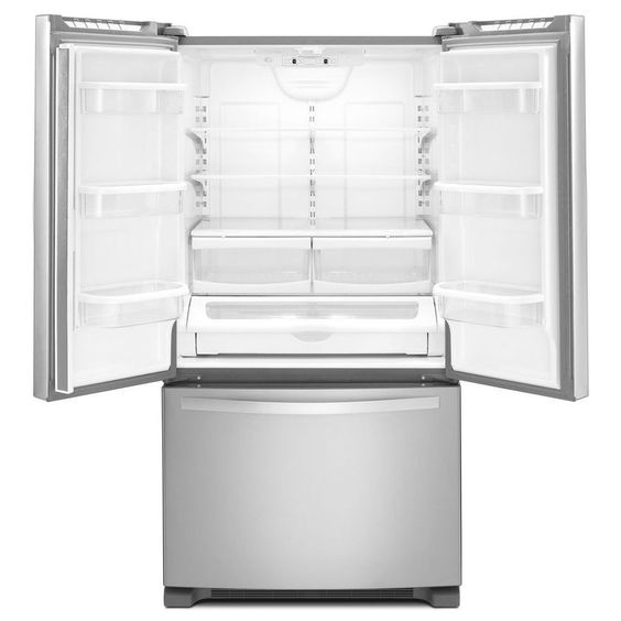 Shop Whirlpool 25.2-cu ft French Door Refrigerator with Single Ice Maker (Stainless Steel) ENERGY STAR at Lowes.com
