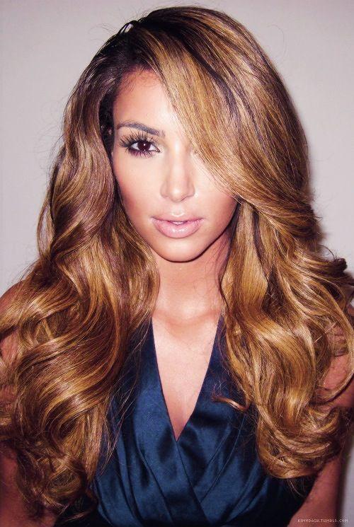 Caramel Hair Colour  Nails Makeup Beauty  Pinterest  Kim Kardashian Co