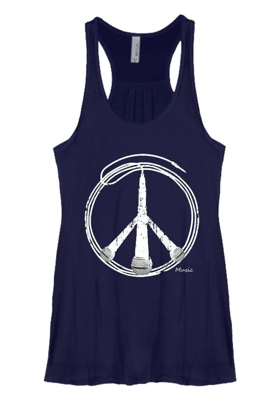 Peace and Music Flowy Tank [Runs Small]