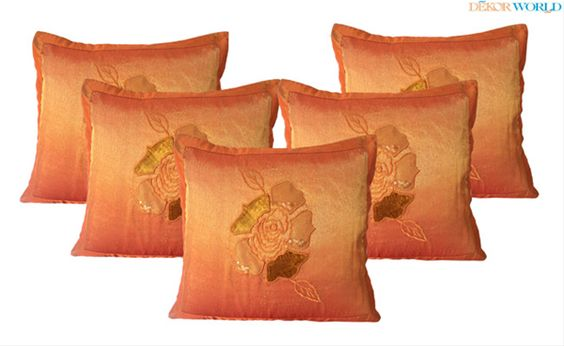 Buy Designer Cushion Covers, Embroidery, Plain Cushion Cover, Printed, Velvet, Modern Cushion Covers Online with Free Shipping in India at Dekorworld.in