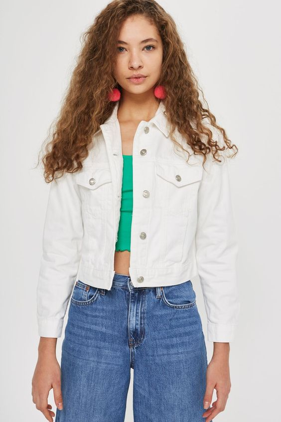 White Fitted Denim Jacket - New In Fashion - New In - Topshop