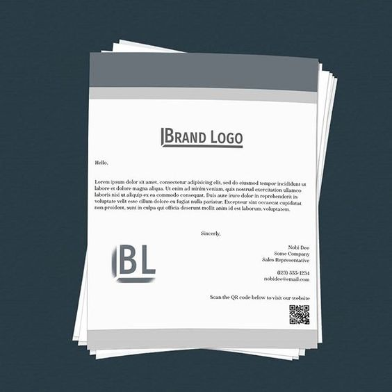 Download Stacked Letter - Stationary Photoshop Mockup Free Download - Design Preview
