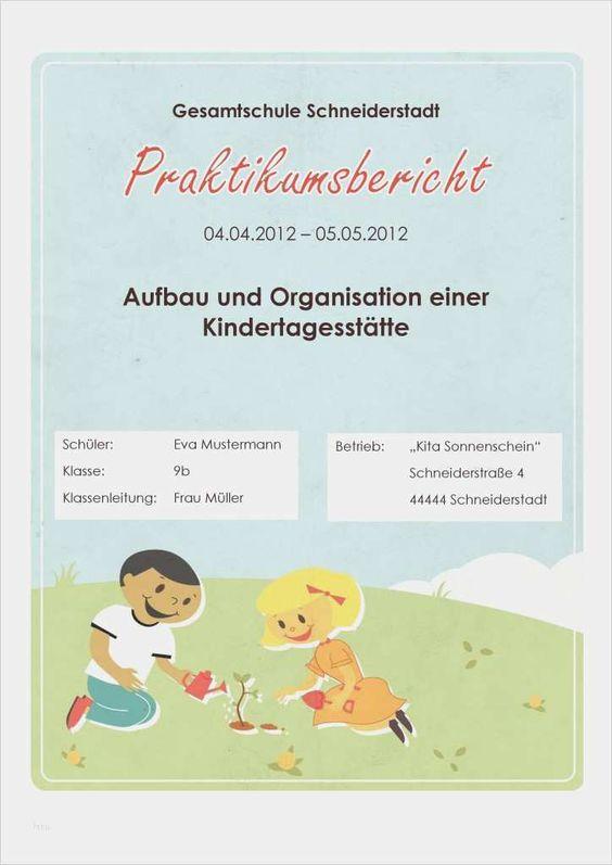 35 Wunderbar Praktikumsbericht Vorlage Kindergarten Ideen In 2020 Praktikumsbericht Deckblatt Vorlage Vorlagen