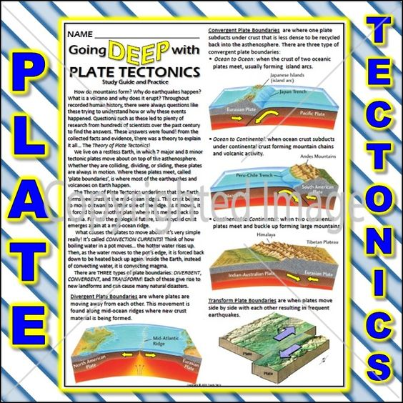 study guides plate tectonics and the o 39 jays on pinterest. Black Bedroom Furniture Sets. Home Design Ideas