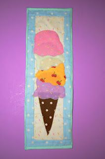 """New pattern from my new fabric line """"I scream for Ice Cream"""""""
