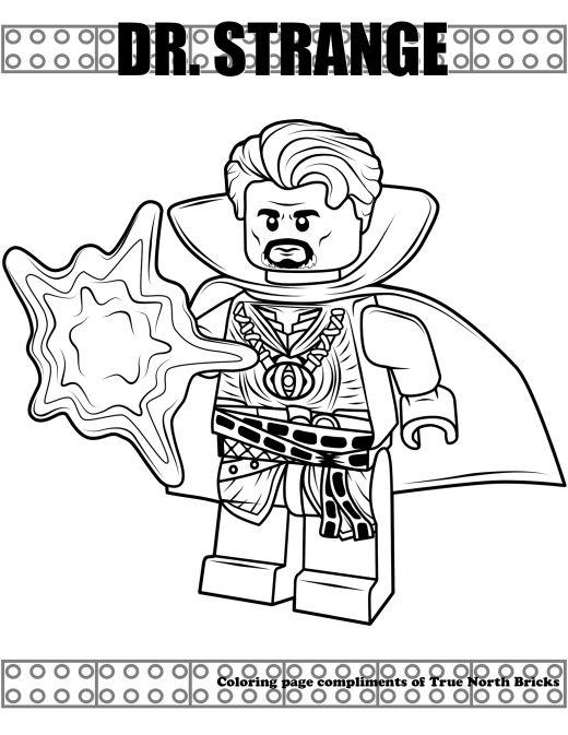 Coloring Page Dr Strange True North Bricks Avengers Coloring Pages Avengers Coloring Lego Coloring Pages