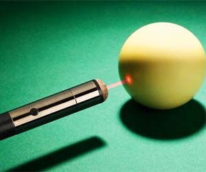 Perfectly strike the cue ball every time with this laser guide billiards cue stick. This regulation size and weight cue stick features a built-in laser so you can easily see where you will hit the cue ball, enabling you to strike with more accuracy for those difficult angled shots.  Buy It  $129.95