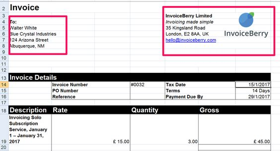 Enter The Contact Details To Your Invoice In Excel  What Is An
