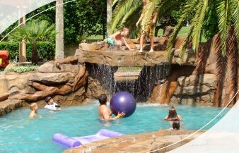 Rock waterfalls for pools