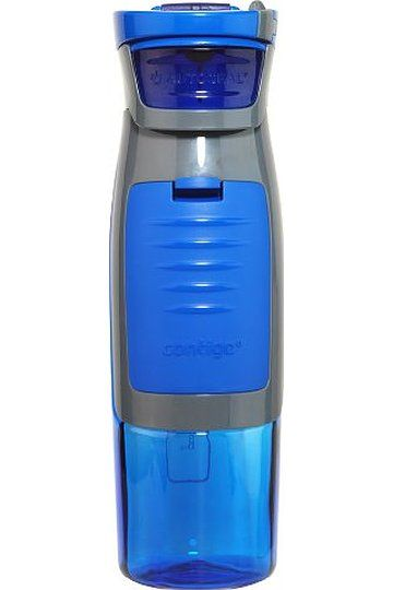 Contigo AUTOSEAL Kangaroo Reusable Water Bottle with Storage Compartment, 24oz, Blue