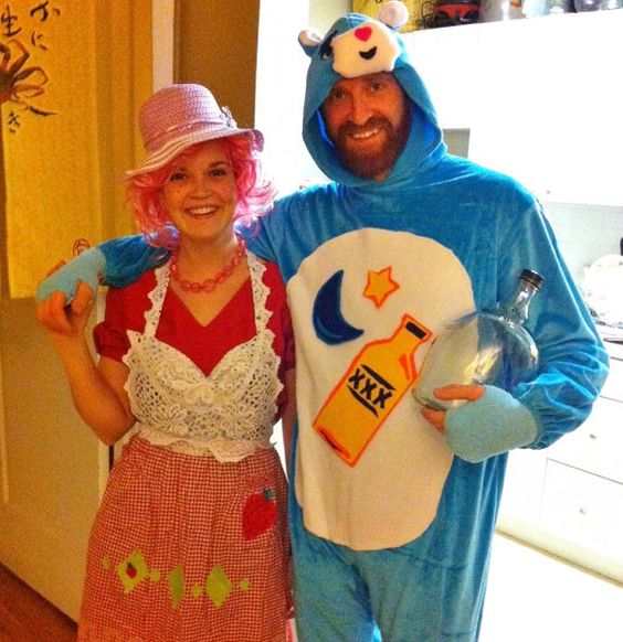 Adult Care Bear Costume  Maybe wine and chocolate bear? lol