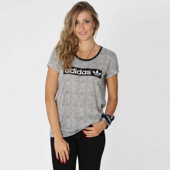 Blusa Adidas Originals Logo Tee - Cinza | Kanui