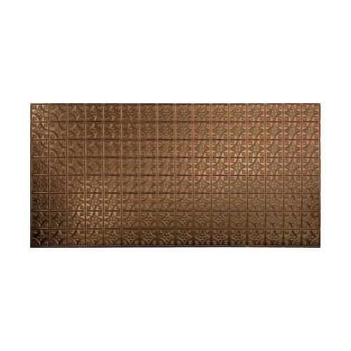 Fasade Oil Rubbed Bronze Traditional 1 Vinyl Wall Panel 4 X 8