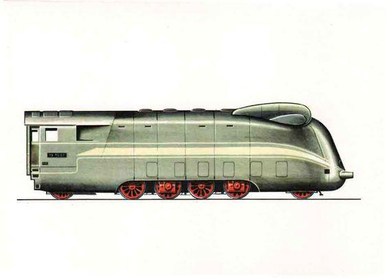 """Schnellzug-Lokomotive 19 1001 (1942) Diese Versuchslok war erstmalig mit 4 Dampfmotoren (2 Zyl. V) in Einzelachsantrieb ausgerüstet und probeweise auf der Strecke Berlin-Hamburg eingesetzt. Trotz nicht abgeschlossener Erprobung wurde sie bis zum Kriegsende für die Beförderung von Schwertransporten verwendet. 1945 brachten die Amerikaner die 19 1001 als """"Beute"""" nach den USA, wo sie 1952 verschrottet wurde."""
