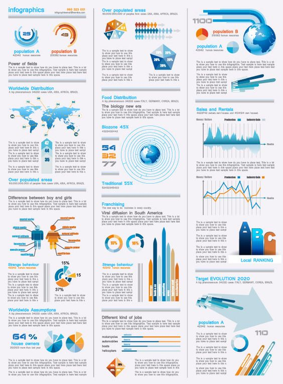 10+ Free Infographics Design Sets in Vector Format | DisEñ0 ...