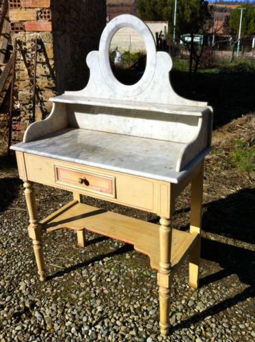 Great Amazing French Marble Topped Dressing Table   A Rare Item With Low Start |  EBay