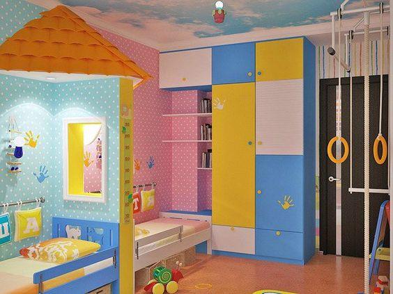kinderzimmer komplett gestalten junge und m dchen teilen ein zimmer kid s room pinterest. Black Bedroom Furniture Sets. Home Design Ideas