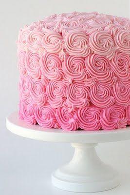 pink: Decorating Idea, Pretty Cake, Ombre Swirl, Ombre Cake, Wedding Cake, Birthday Cake, Pink Cake