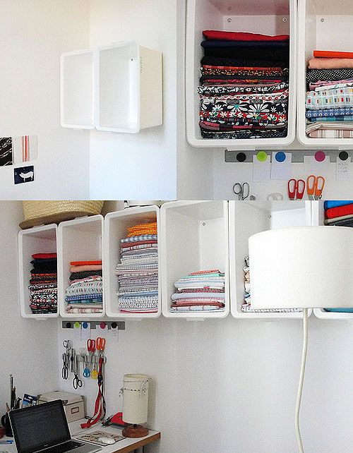 Do it yourself to the wall and craft room storage on - Ikea material oficina ...