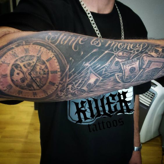 cool Top 100 money tattoos - http://4develop.com.ua/top-100-money-tattoos/ Check more at http://4develop.com.ua/top-100-money-tattoos/