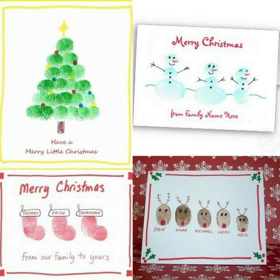 fingerstempel karten weihnachten pinterest. Black Bedroom Furniture Sets. Home Design Ideas