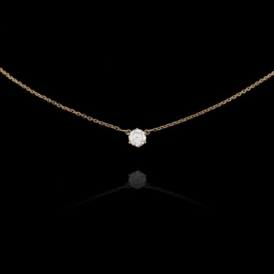 Yellow gold chain ornated with one diamond 112 carat jewels yellow gold chain ornated with one diamond 112 carat jewels expertissim sparkles pinterest jewel chains and diamond aloadofball Images